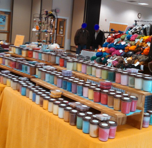 Soy candles at a craft show