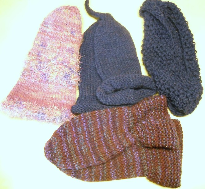 Hats to felt and cowl to label.