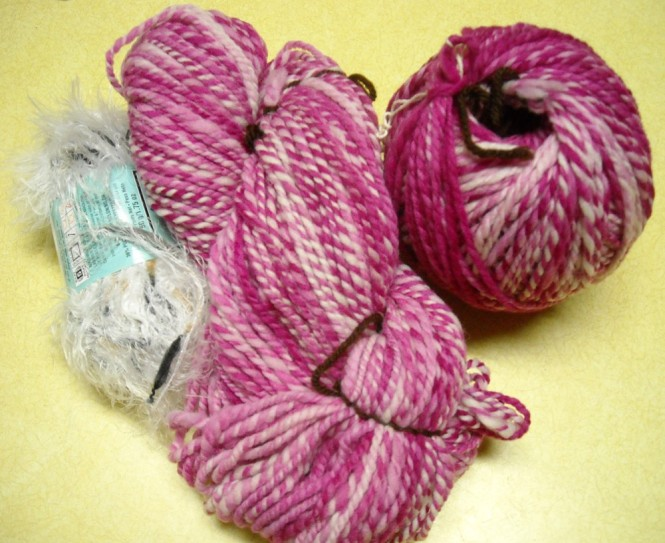 wool hand spun and dyed