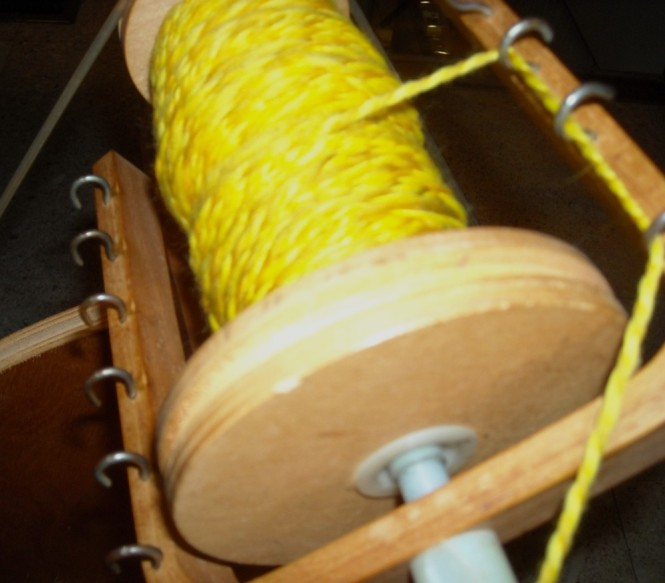 Two ply golden yarn