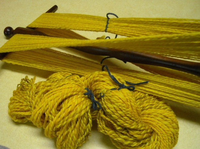 yarn measured into skeins