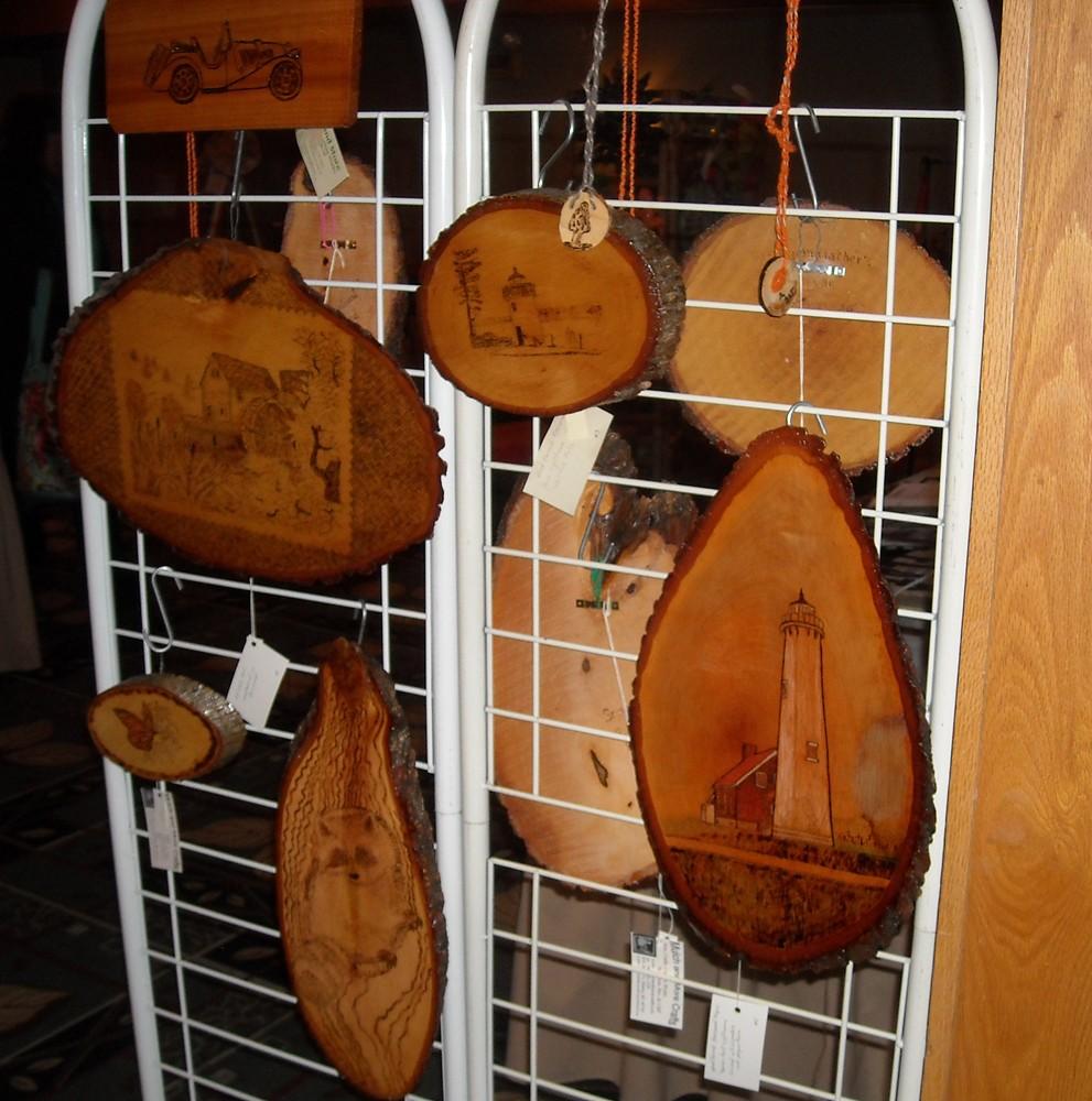 wood burned plaques