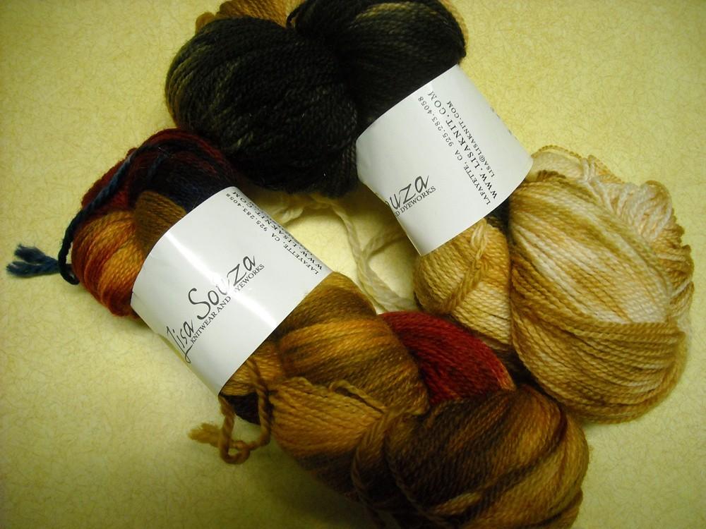 skeins of sock yarn.