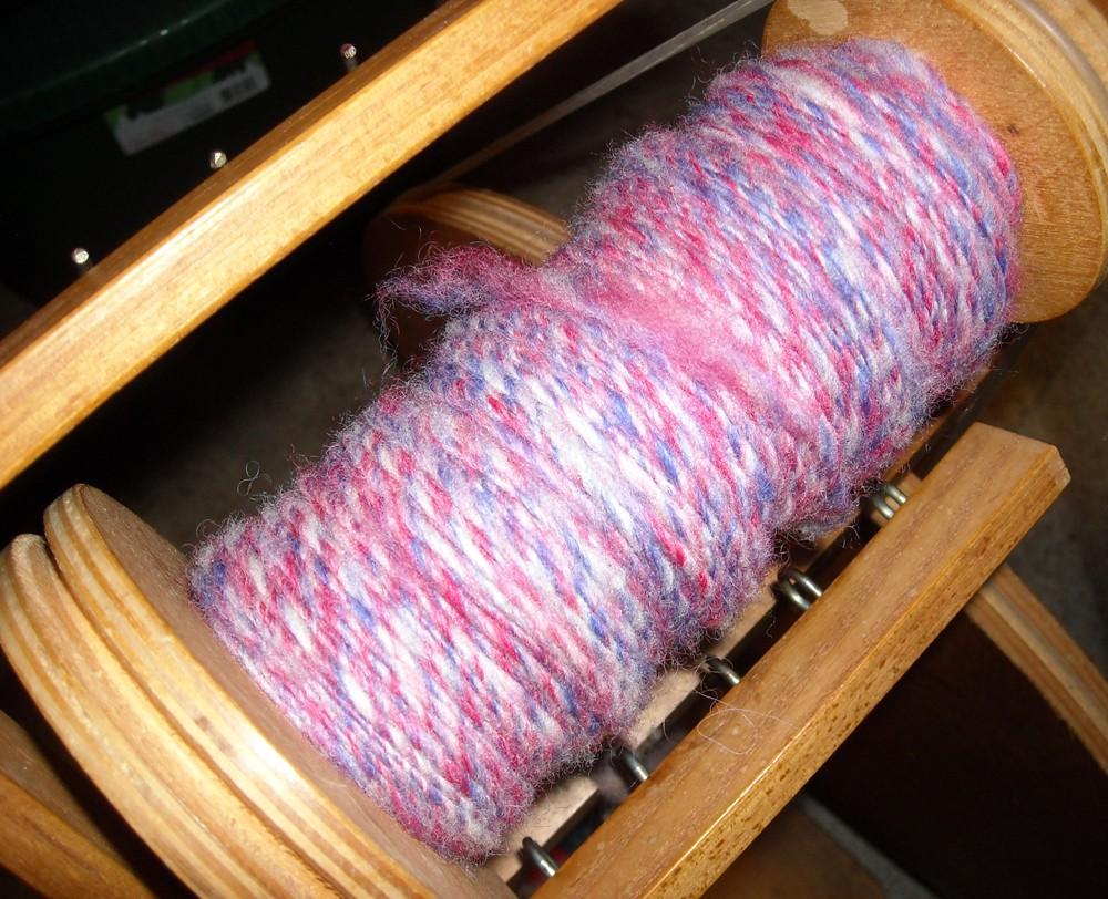 2+ oz. of spun wool yarn