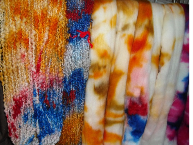 hand dyed wools