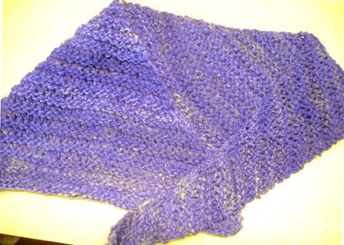 skewed shawlette