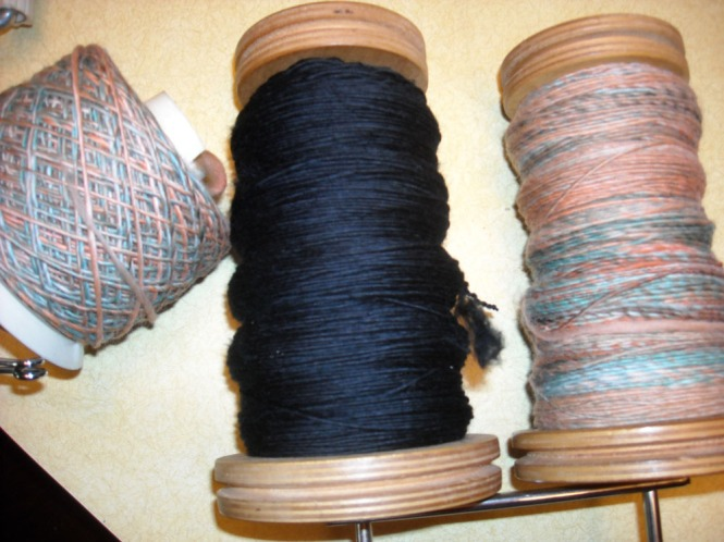wool yarn ready to ply