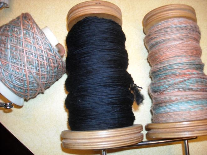 wool yarn ready to ply