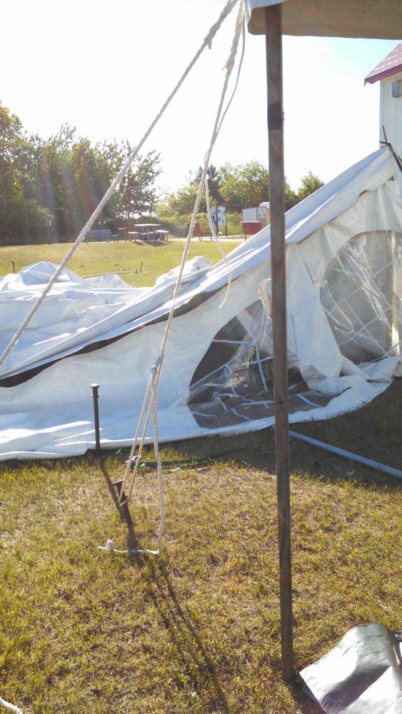 big tent down