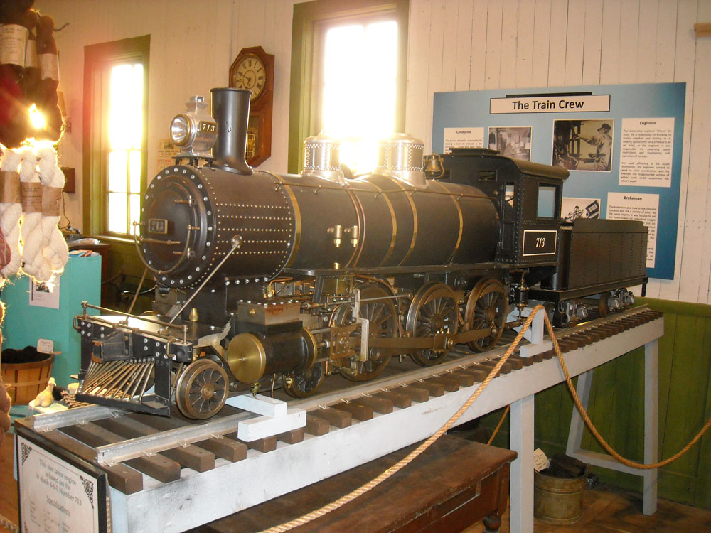 train in Port Sanilac Museum