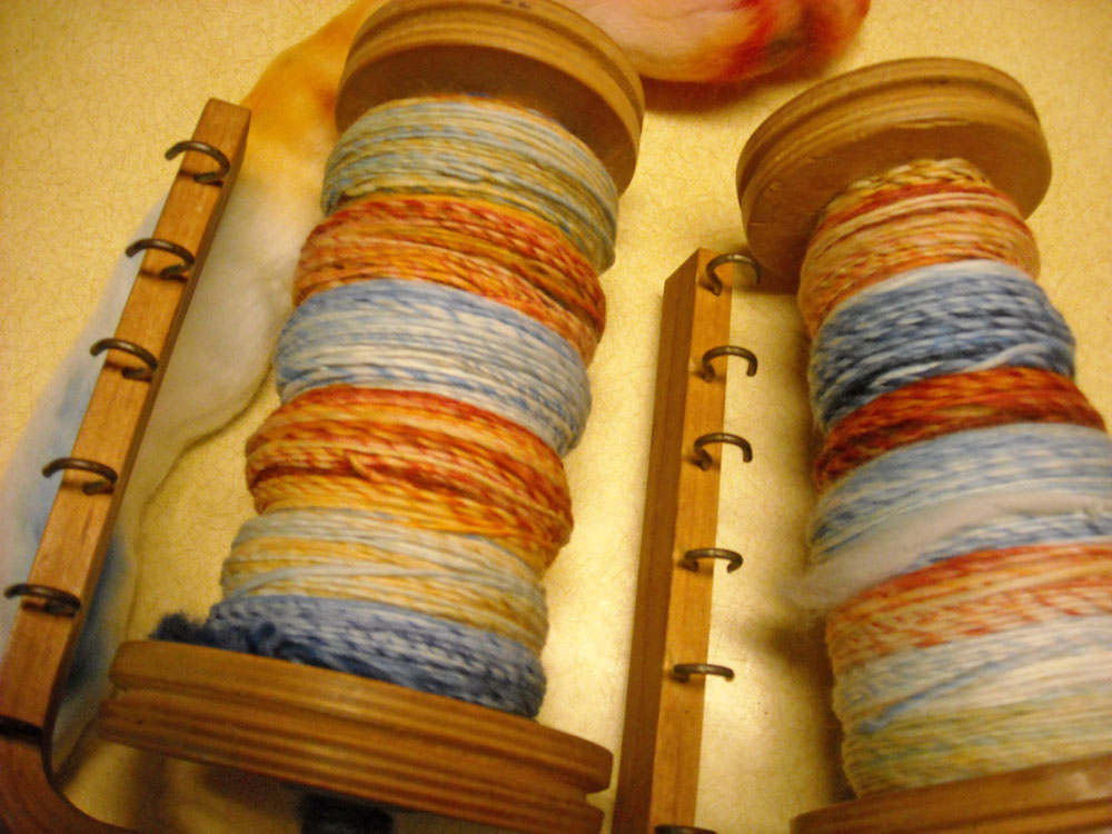 single hand spun yarn